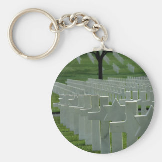 World War II cemetery, Memorial Day Keychain