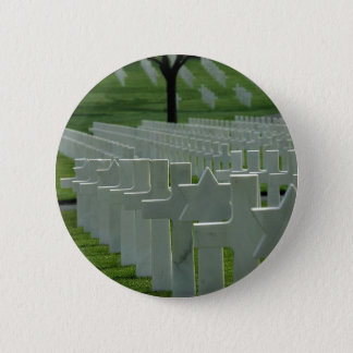 World War II cemetery, Memorial Day Pinback Button