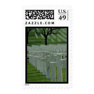 World War II cemetery, Memorial Day Postage Stamps