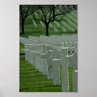 World War II cemetery, Memorial Day Poster
