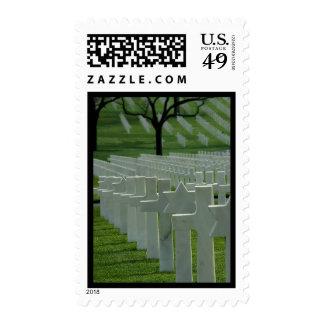 World War II cemetery, Memorial Day Stamp