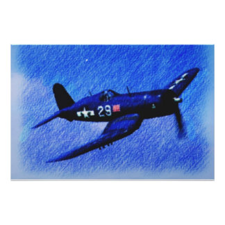 WORLD WAR II CORSAIR BLACK SHEEP SQUADRON POSTER