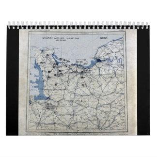 World War II D-Day Map June 6, 1944 Calendar