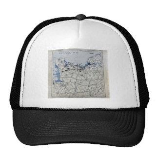 World War II D-Day Map June 6, 1944 Hat