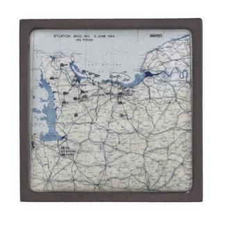 World War II D-Day Map June 6, 1944 Premium Gift Box