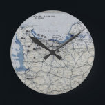 "World War II D-Day Map June 6, 1944 Round Clock<br><div class=""desc"">World War II D-Day Map June 6,  1944</div>"
