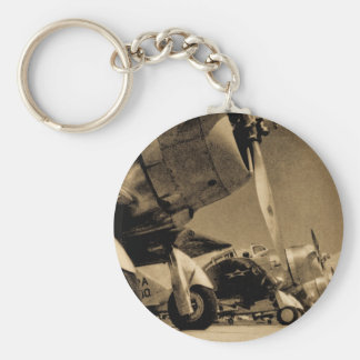 World War II Douglas SBD Dauntless Bomber Planes Basic Round Button Keychain
