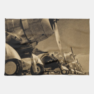 World War II Douglas SBD Dauntless Bomber Planes Kitchen Towels