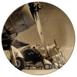 World War II Douglas SBD Dauntless Bomber Planes Porcelain Plates