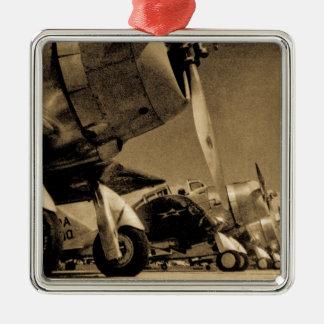 World War II Douglas SBD Dauntless Bomber Planes Metal Ornament