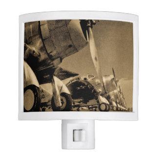 World War II Douglas SBD Dauntless Bomber Planes Night Light