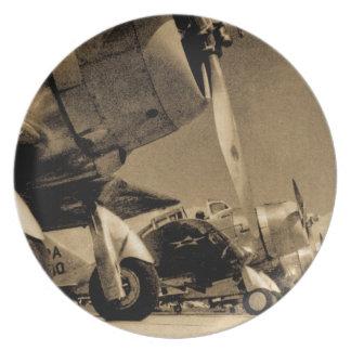 World War II Douglas SBD Dauntless Bomber Planes Plates