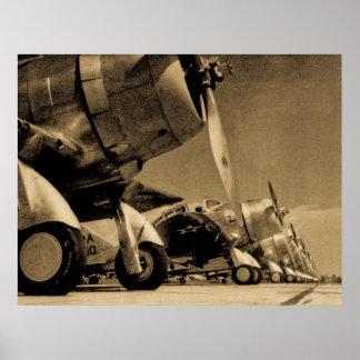 World War II Douglas SBD Dauntless Bomber Planes Poster