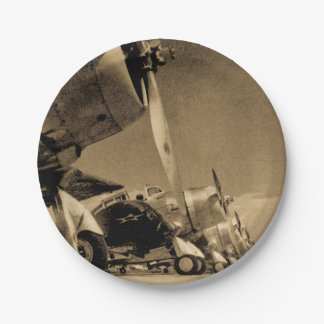 World War II Douglas SBD Dauntless Bomber Planes 7 Inch Paper Plate