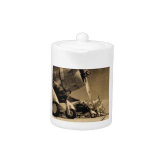 World War II Douglas SBD Dauntless Bomber Planes Teapot
