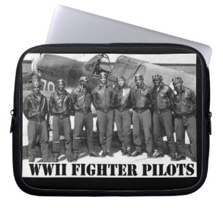 WORLD WAR II FIGHTER PILOTS LAPTOP COMPUTER SLEEVE