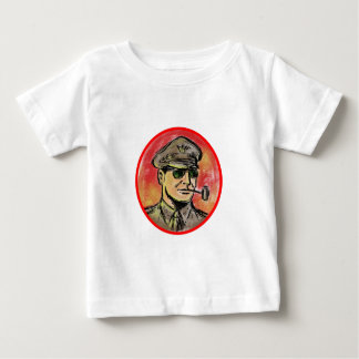 World War II General Corn Cob Pipe Watercolor Baby T-Shirt
