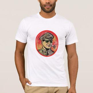 World War II General Corn Cob Pipe Watercolor T-Shirt