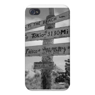 World War II Marine Directional Sign of Humor iPhone 4 Cover