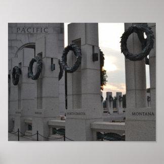 World War II Memorial 'Pacific' Poster