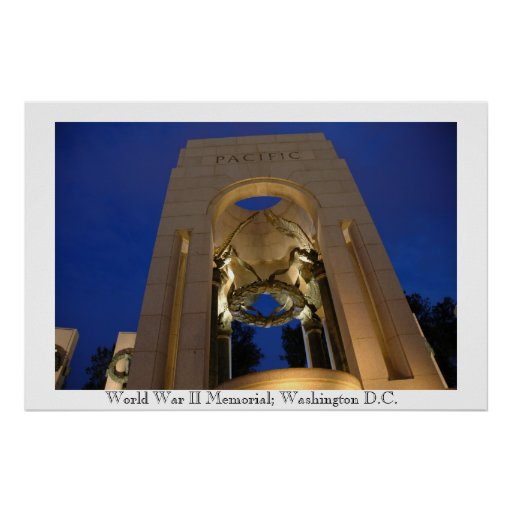 World War II Memorial Pacific Theater Poster