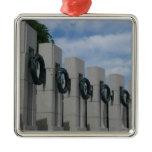 World War II Memorial Wreaths I Metal Ornament