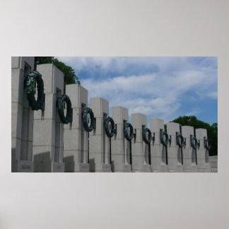 World War II Memorial Wreaths I Poster