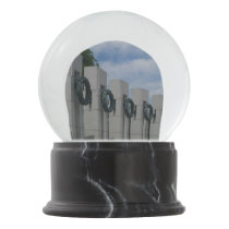World War II Memorial Wreaths I Snow Globe