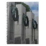 World War II Memorial Wreaths I Spiral Notebook