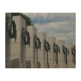 World War II Memorial Wreaths I Wood Print