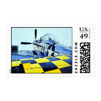 World War II P-51 Mustang fighter airplane Postage