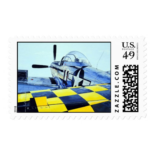World War II P-51 Mustang fighter airplane Stamps