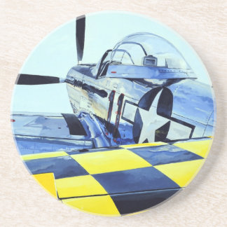 World War II P-51 Mustang fighter Coasters