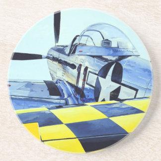 World War II P-51 Mustang fighter Drink Coaster