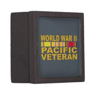 World War II Pacific Veteran Premium Trinket Boxes