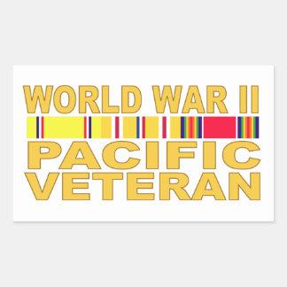 World War II Pacific Veteran Rectangular Sticker