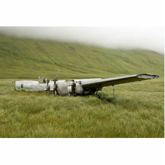 World War II plane wreckage on Atka Island Statuette