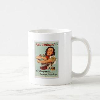 World War II Poster - AM I PROUD! Coffee Mugs
