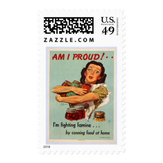 World War II Poster - AM I PROUD! Stamp