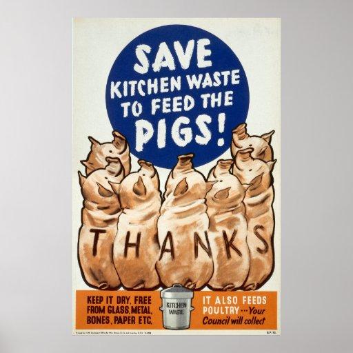 World War II poster - Salvage - Sav
