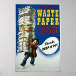 World War II poster - Salvage Waste Paper