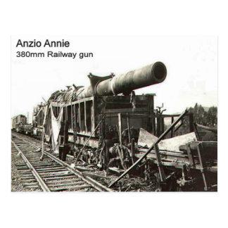 World War II    Railway gun, Anzio Annie Postcard