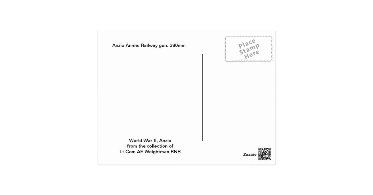 world war ii railway gun anzio annie postcard zazzlecom pet sitter resume