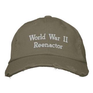 World War II   Reenactor Embroidered Hat