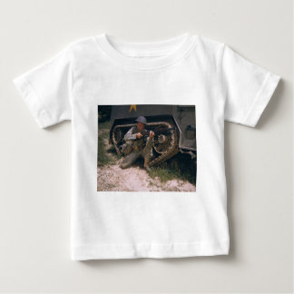 World War II Soldier Kneeling with Garand Rifle Baby T-Shirt