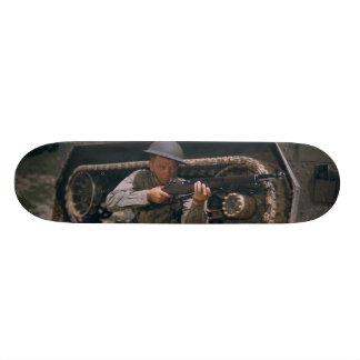 World War II Soldier Kneeling with Garand Rifle Skateboard