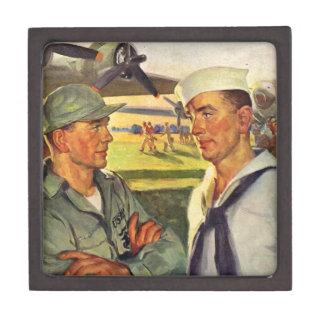 World War II soldier meets sailor Premium Gift Boxes