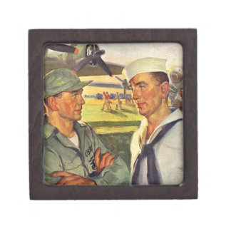 World War II soldier meets sailor Premium Jewelry Boxes