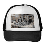 World War One Army Nurse and Staff with Patient Trucker Hats