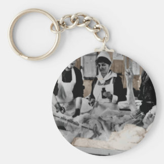 World War One Army Nurse and Staff with Patient Keychain
